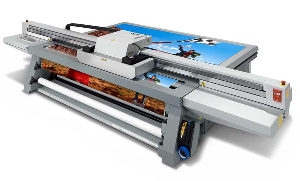 Flachbettdrucker der Océ Arizona Serie