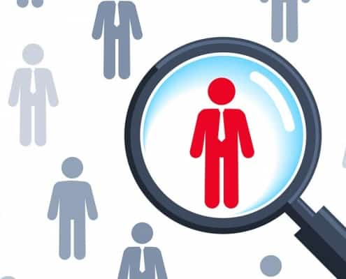 Personengruppe mit Lupe ( Illustration: Happy Art / Shutterstock.com)