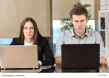 Geschäftspartner ohne Vertrauen
