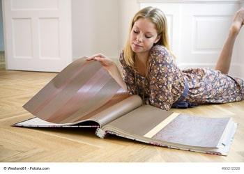 Selbst Tapeten können heute digital bedruckt werden – die Auswahl an Farben und Mustern ist riesig.