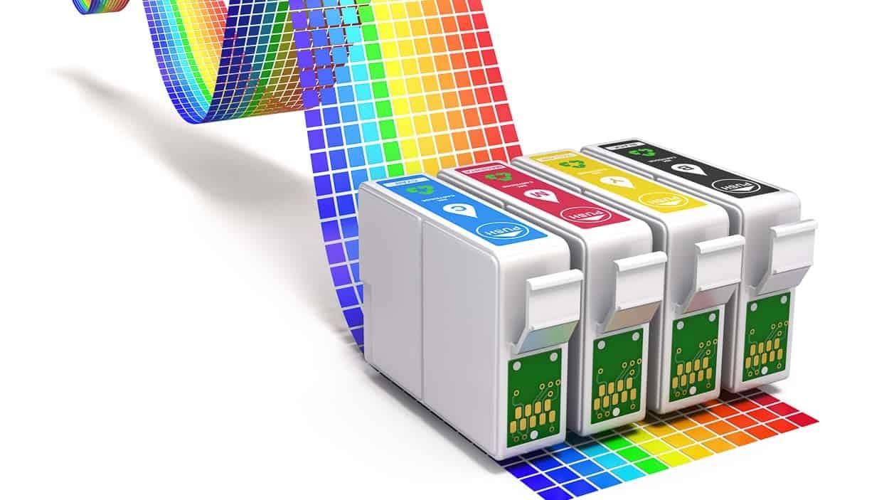 Tintentrahlpatronen mit Farbband