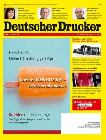 So sieht die Titelseite mit personalisierter Anzeige aus. (Bild: © Deutscher Drucker)