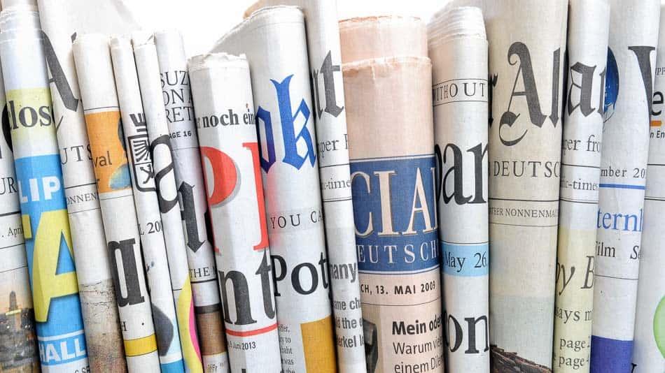 Spektrum verschiedener Tageszeitungen